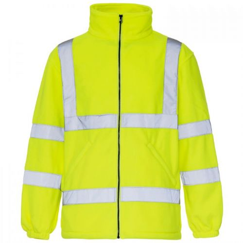 Supertouch Hi Vis Yellow Fleece Jacket